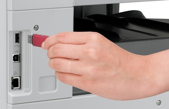 МФУ Sharp AR6031NR. Цветное сканирование на USB