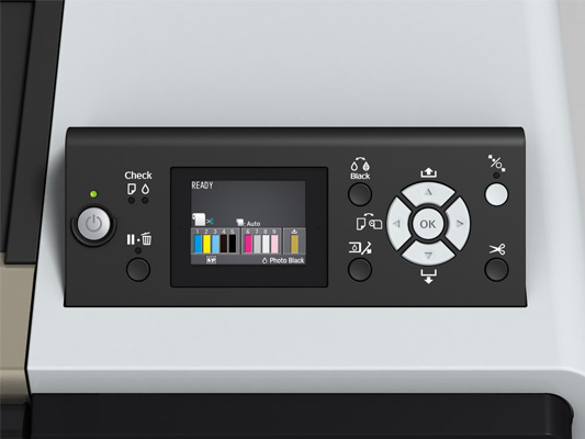Epson Stylus Pro WT7900. Панель управления