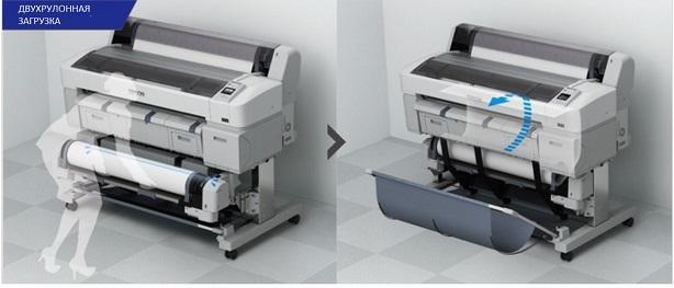 Epson SureColor SC-T5200D. Двухрулонная загрузка