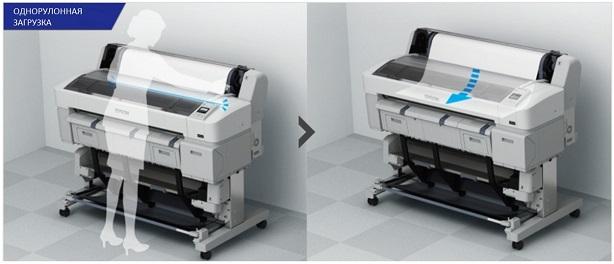 Epson SureColor SC-T5200D. Однорулонная загрузка