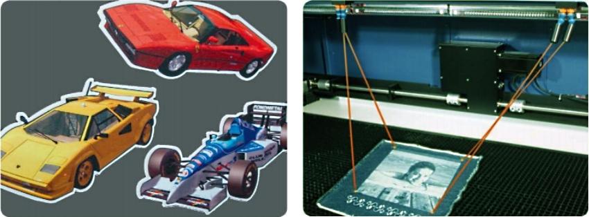 GCC LaserPro Gaia 100. Устройство AAS для автоматической резки контура