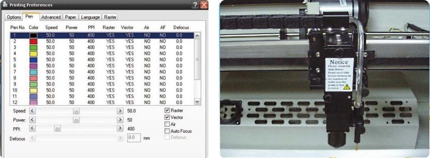 GCC LaserPro Mercury III 12. Функция предпросмотра