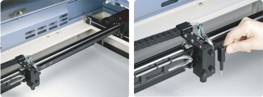 GCC LaserPro Spirit GX 30. Cистема DuraGuide