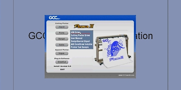 GCC Puma III SP-132S. Драйвер для Windows