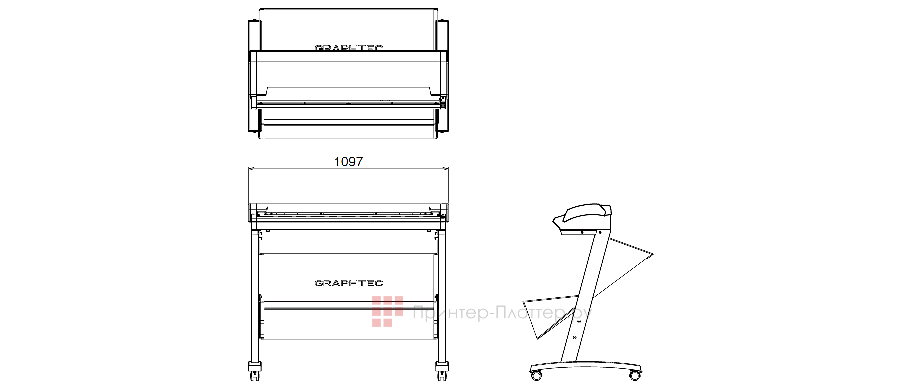 Graphtec CSX 300. Компактные размеры сканера