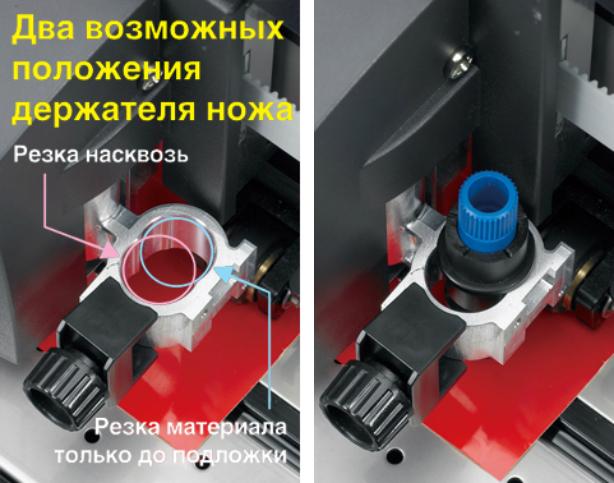 Graphtec FC8000-160. Специальная конструкция держателя