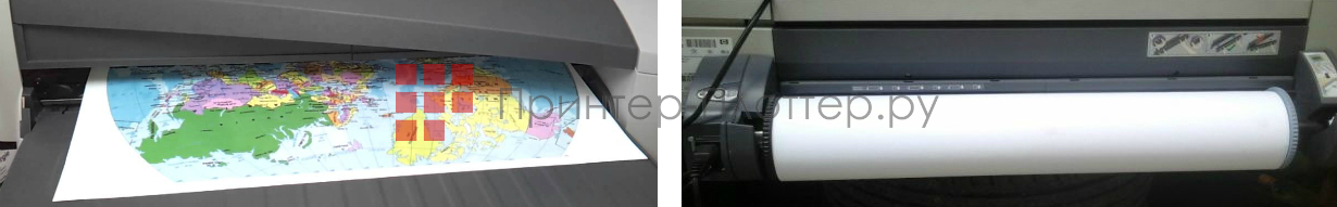 HP DesignJet 110r Plus. Работа с носителями
