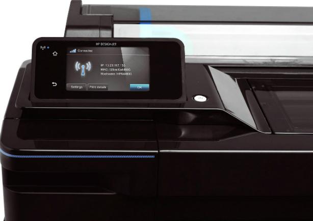 HP Designjet T120 ePrinter 610 мм. Мобильная печать