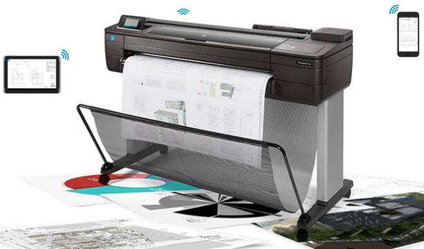 HP DesignJet T730.Мобильная печать