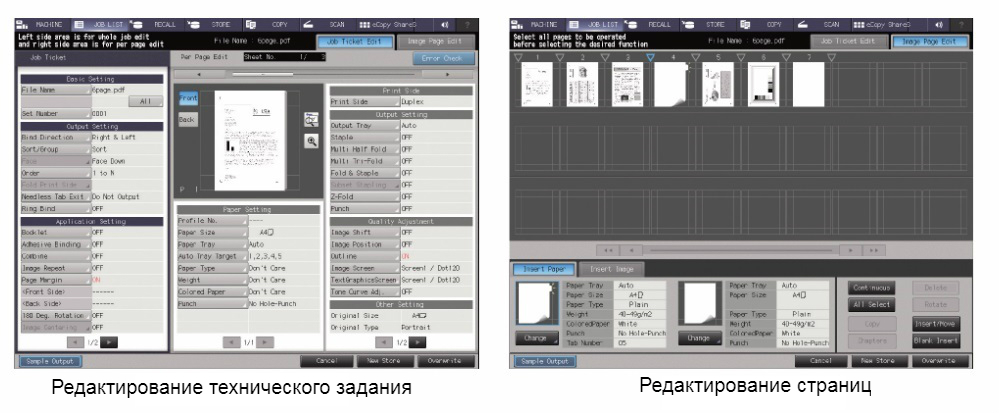 Konica Minolta AccurioPress 6136P. Эффективность работы