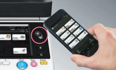Konica Minolta bizhub 227. Подключение по NFC