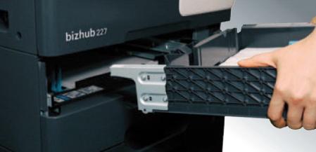 Konica Minolta bizhub 227. Съемная кассета с бумагой