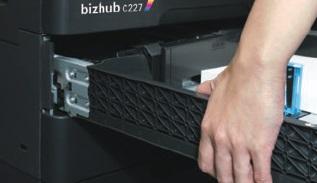 Konica Minolta bizhub C287. Съемная кассета для бумаги