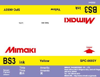 Чернила Mimaki BS3 (yellow) 2 л. На выгодных условиях