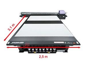 Mimaki JFX200-2531. Увеличенная область печати