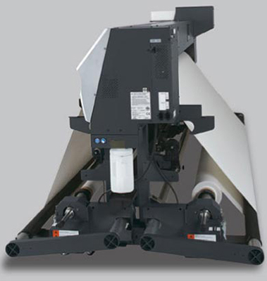 Mimaki JV5-160S. Система подачи и подмотки носителя