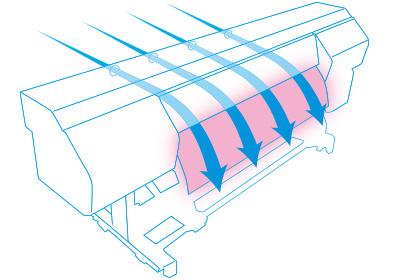 OKI ColorPainter M-64s. Обновленная система вентиляции
