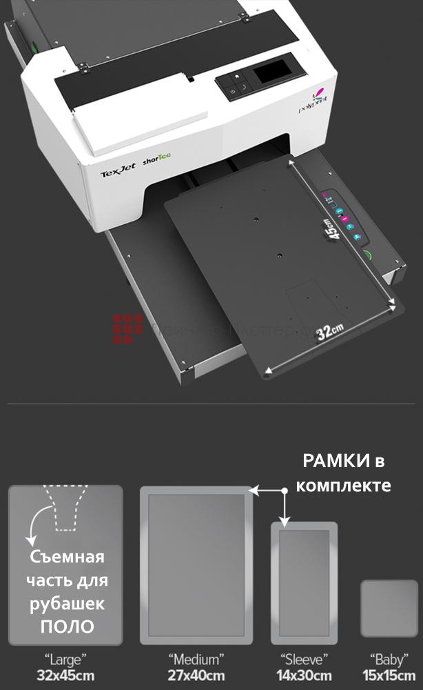 Polyprint Texjet shorTee. Рабочие столы