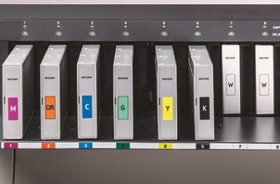 Ricoh Pro L4130. Печать белыми чернилами