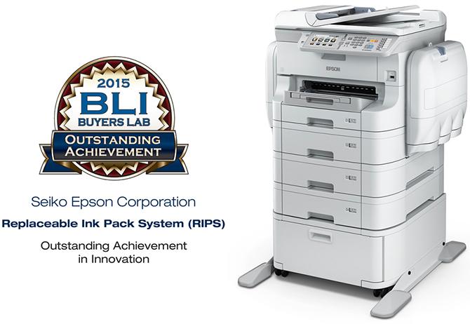 Epson WorkForce Pro RIPS. Премия BLI Выдающееся достижение
