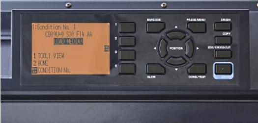 Graphtec FC9000. Интуитивно понятная панель управления