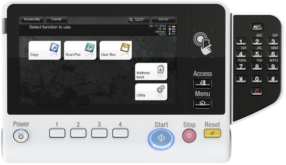 Konica Minolta bizhub C3351/С3851/С3851FS. Панель управления