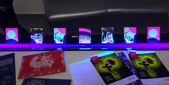 Ricoh Pro C5200S. Печать уникальным неоновым цветом