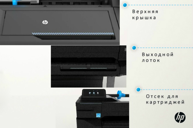 Плоттеры HP DesignJet T120, T520. Цветовая маркировка