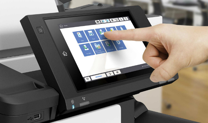 Epson WorkForce Enterprise WF-C20590/C17590. Сенсорная панель управления