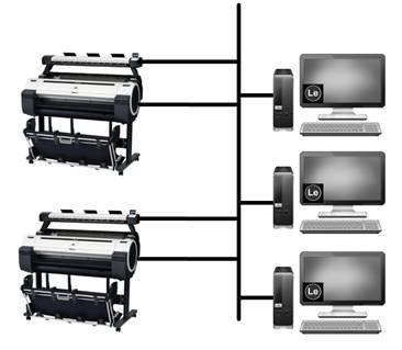 Одновременное использование нескольких МФУ и PC в одной подсети
