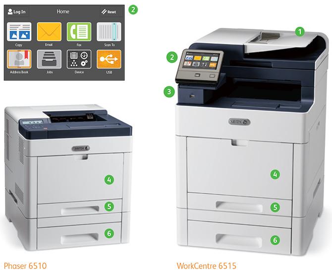 Xerox Phaser 6510 и Xerox WorkCentre 6515. Конструктивные особенности