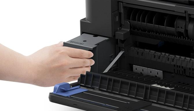 Epson WorkForce WF-7000. Сменная емкость для отработанных чернил