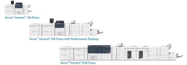 Xerox Versant 180, Xerox Versant 3100