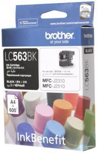Картридж Brother LC-563BK (black), 600 стр. LC563BK Brother