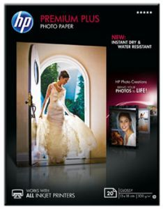 Бумага HP Premium Plus Glossy Photo Paper, 13 x 18 см, 300 г/кв.м, 20 листов CR676A Листовая бумага