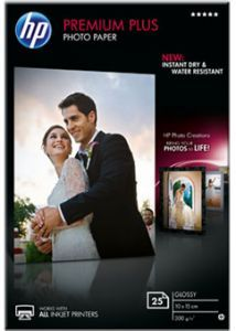 Бумага HP Premium Plus Glossy Photo Paper, 10 x 15 см, 300 г/кв.м, 25 листов CR677A Листовая бумага